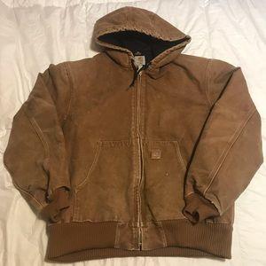 Carhartt canvas hooded jacket